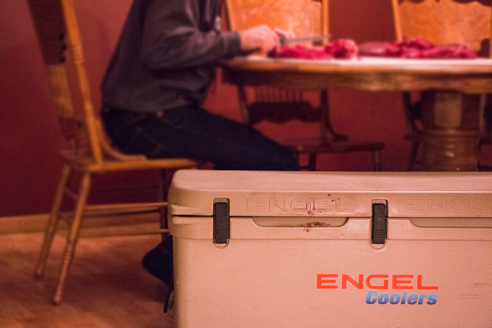 Turn Your Cooler into a Mobile Butchering Station