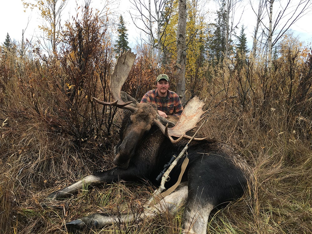 moose taken with .300 Winchester Magnum