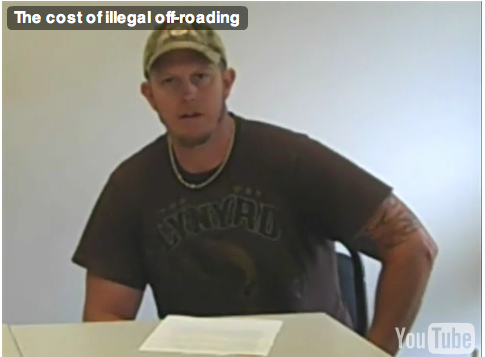 Illegal 4-Wheeler Sentenced to YouTube Confession