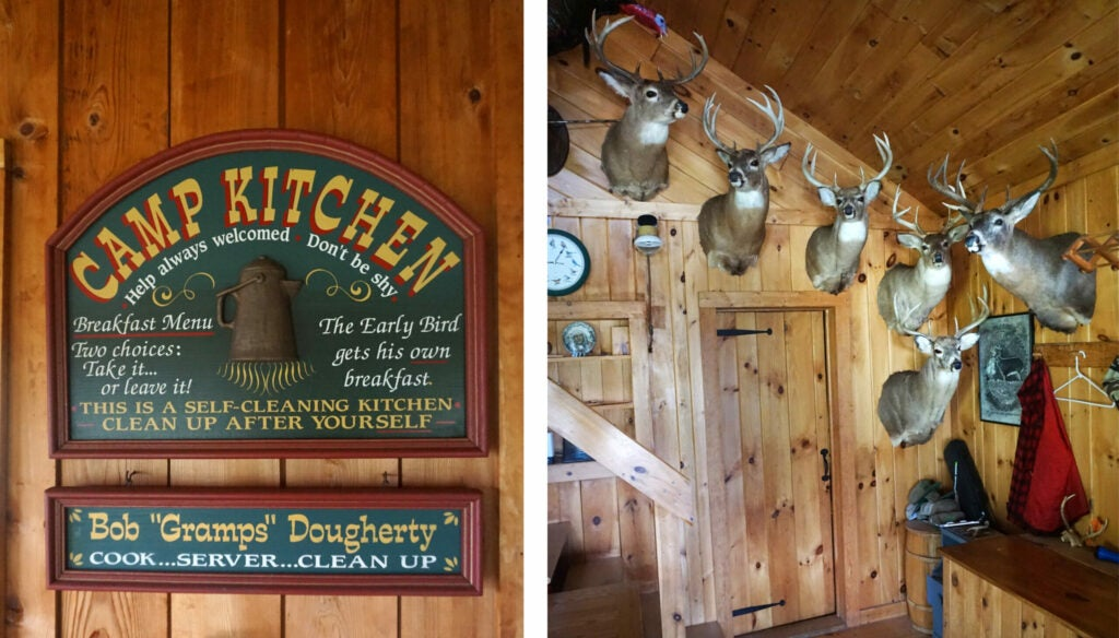 deer camp kitchen and deer