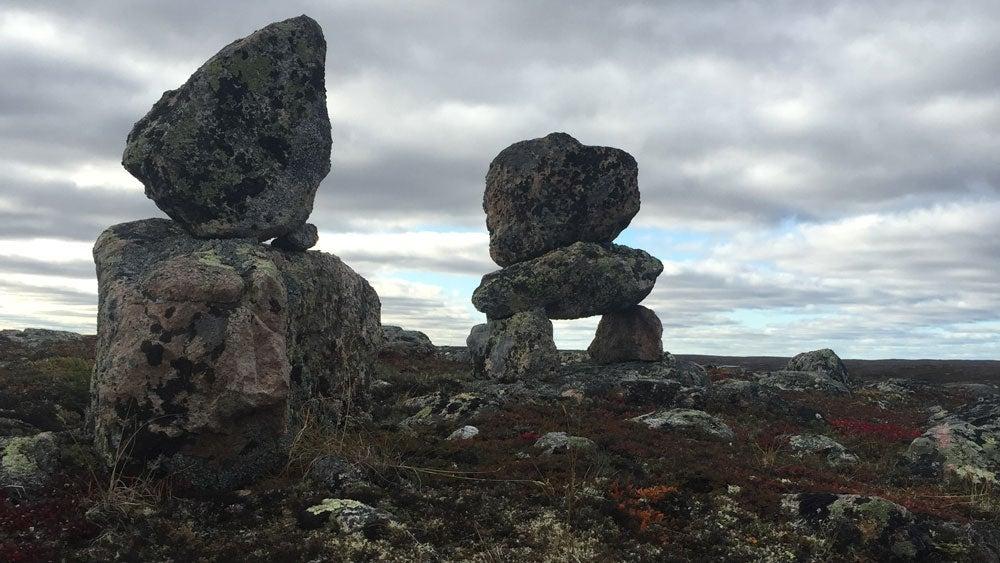 inuksuks, Inuit landmarks made from stacked rock