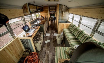 This Guy Is Living Out of a Custom School Bus for a Year to Hunt Public Land