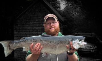 Angler Lands Maine's New State-Record Rainbow Trout with a Bear Hug