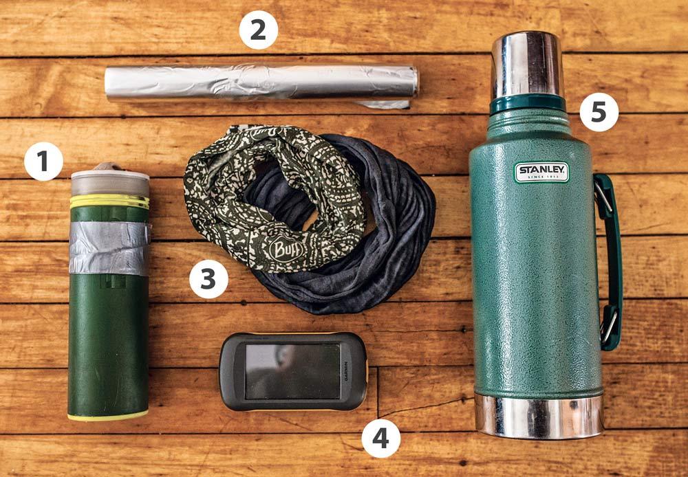 five fly fishing gear items