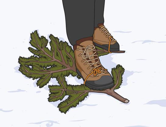 Survival Skills: How to Make Improvised Snowshoes