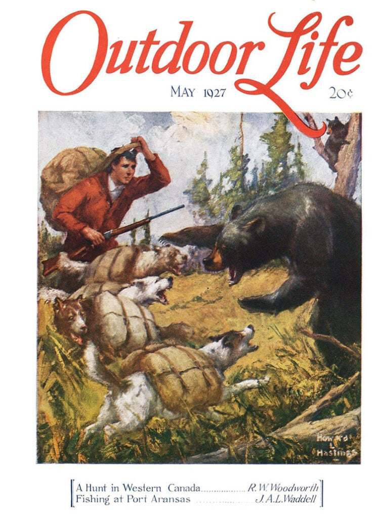 Cover of the May 1927 issue of Outdoor Life