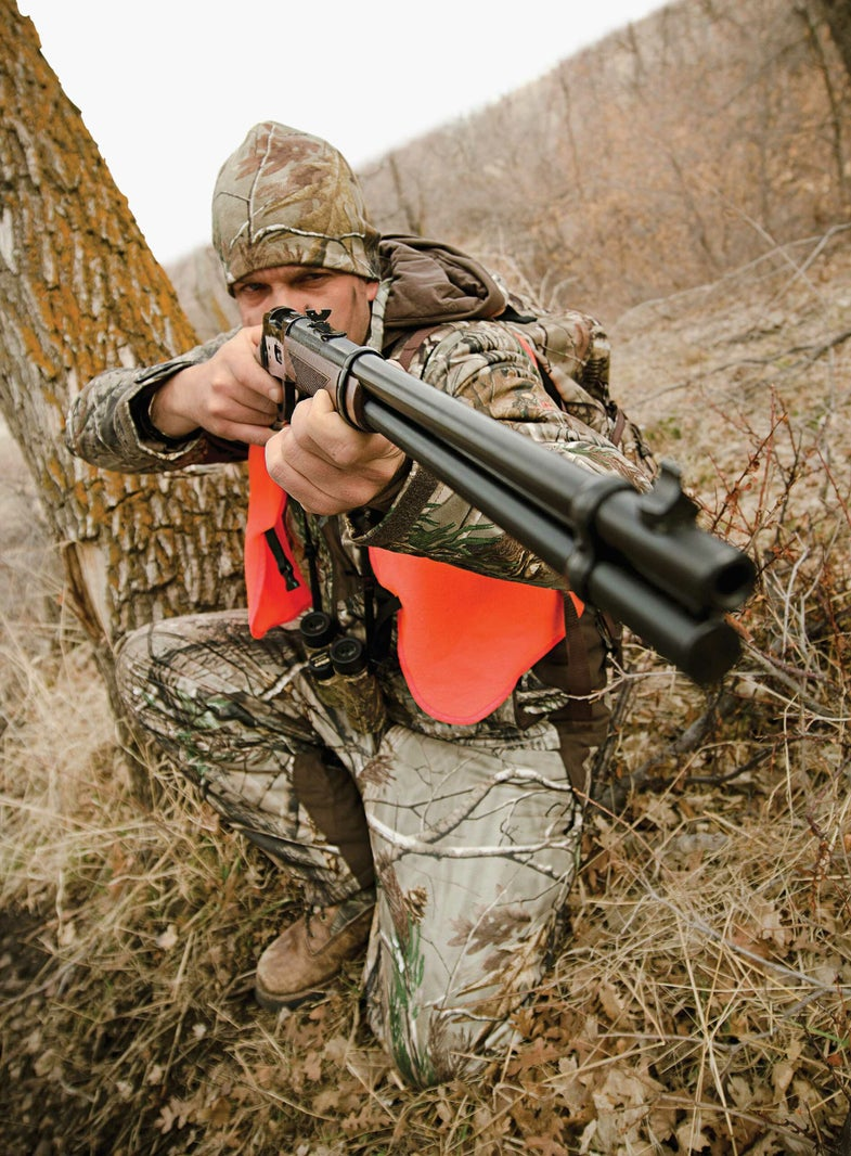 deer hunter with lever action