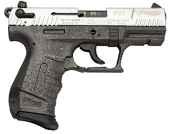 Walther P22 Brushed Chrome-Antracite Finish