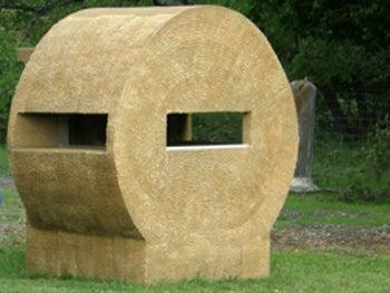 Sneaky hay bale blind.