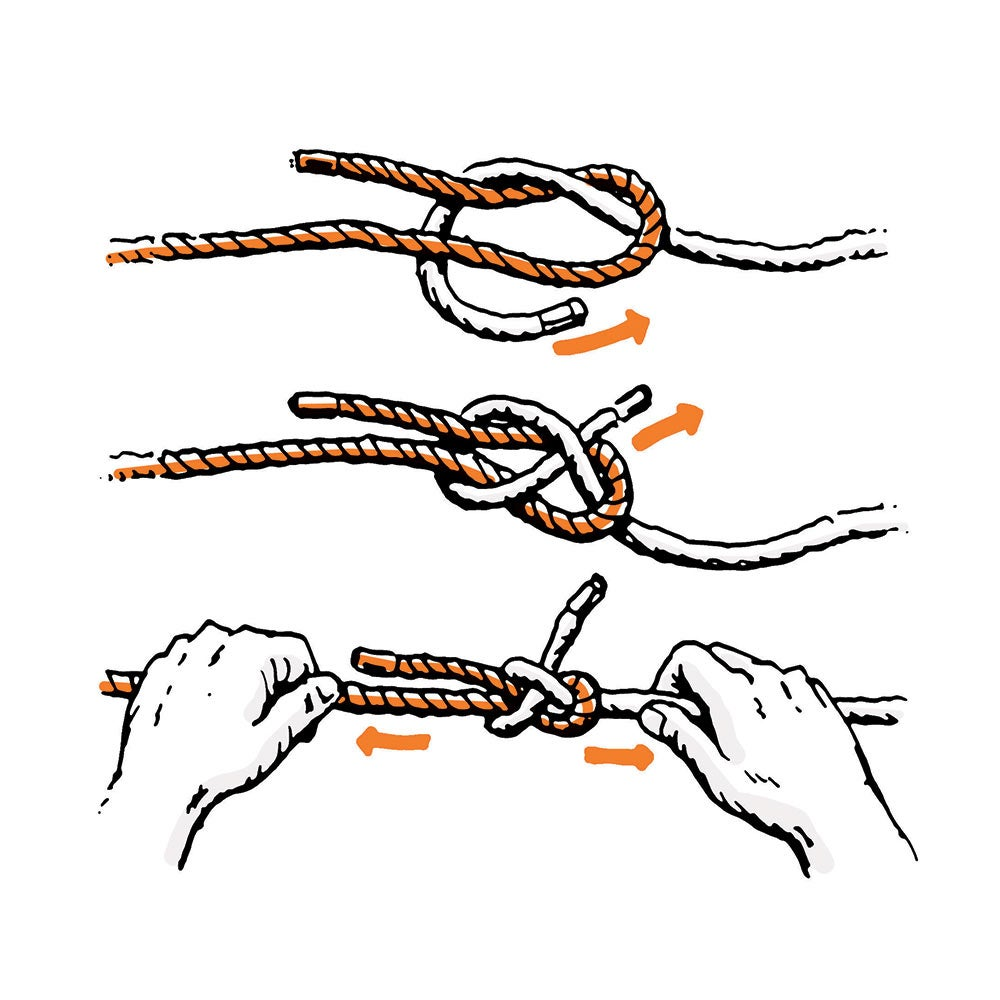 how to tie sheetbend knot survival