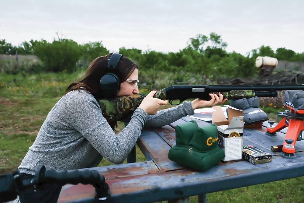 hilary ribons aiming gun range