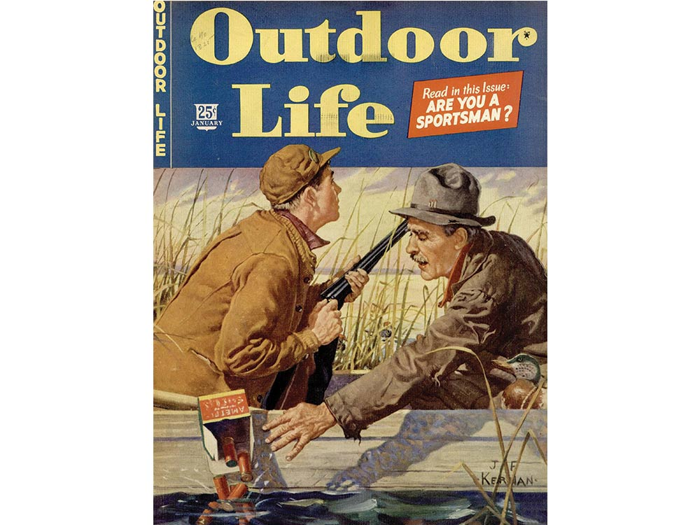 January 1944 cover of Outdoor Life