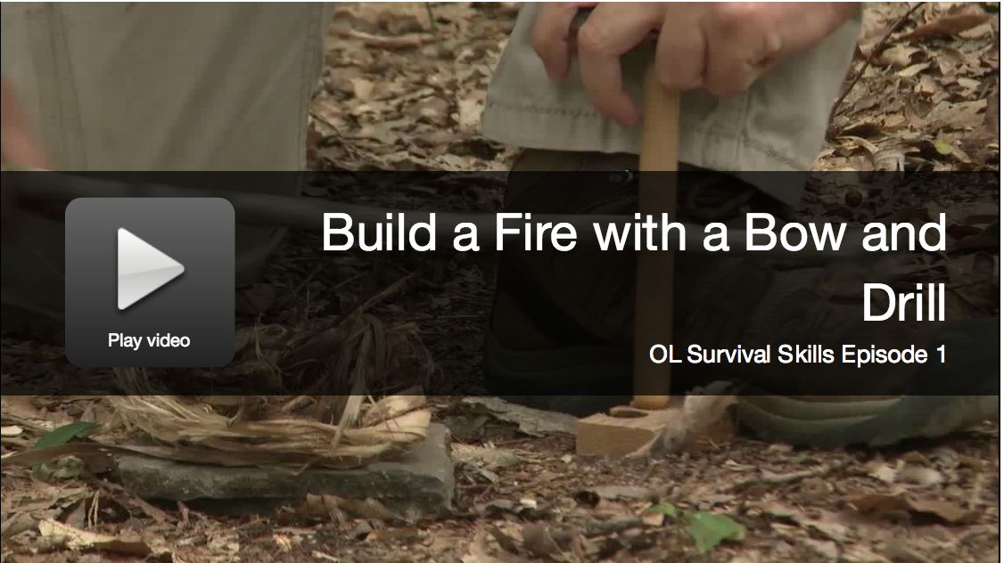 Video: How To Build a Friction Fire with a Bow and Drill