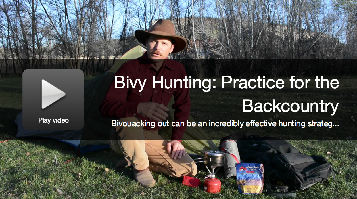 Video: Practice Before a Backcountry Bivy Hunt