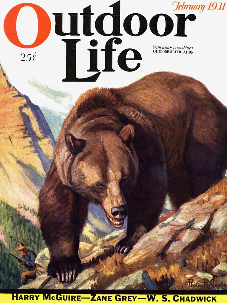 Cover of the February 1931 issue of Outdoor Life