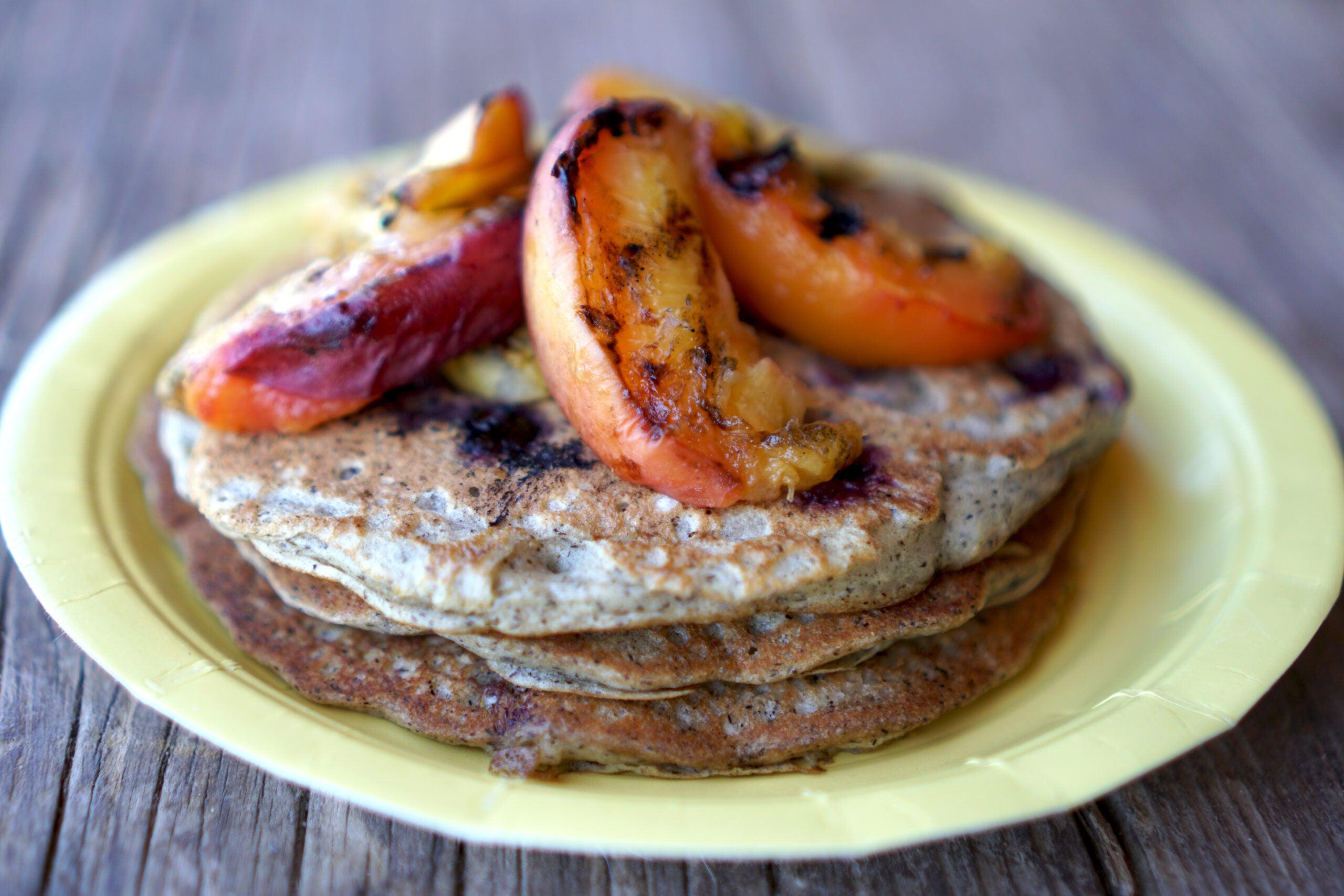 peach-pancakes-camp-breakfast
