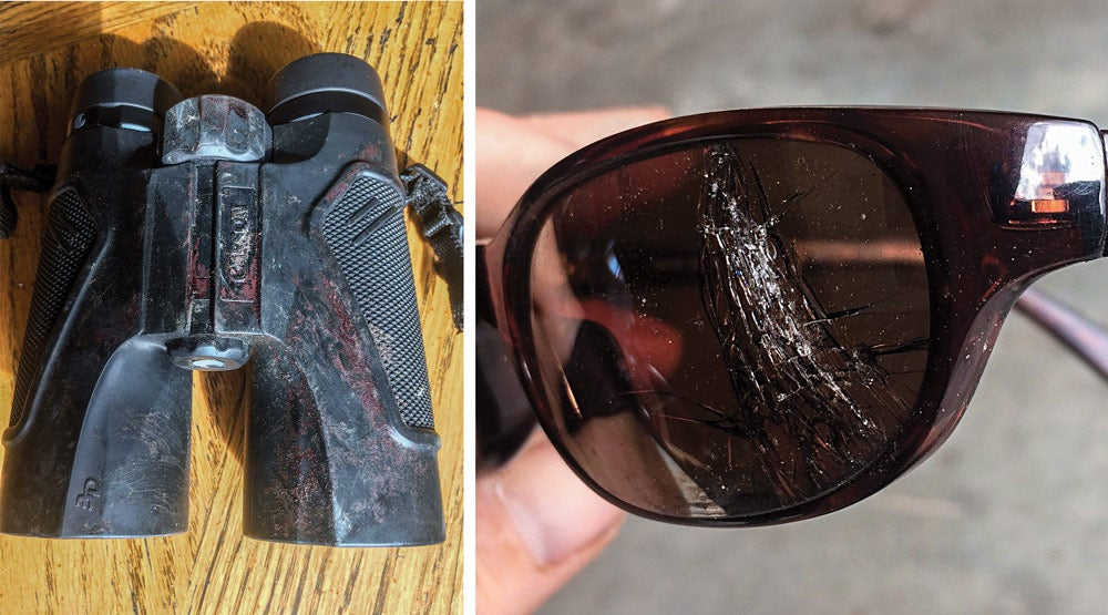 Todd Orr Grizzly Bear attack damaged gear