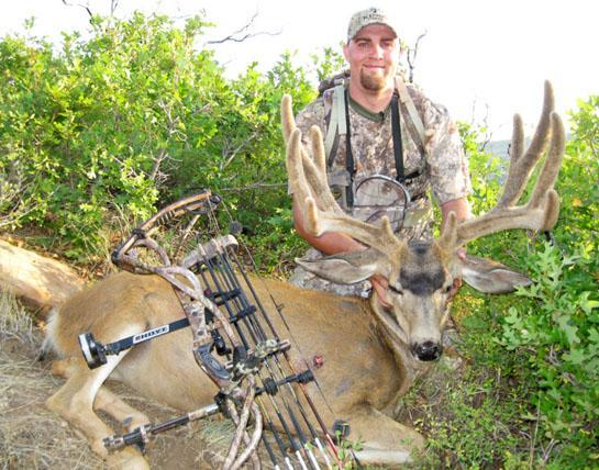 A Velvet-Racked Giant Utah Mule Deer Taken on Opening Day