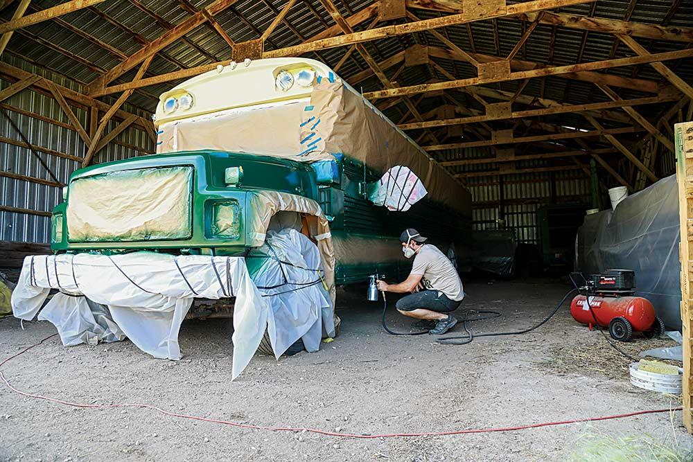 Sam Soholt bus painting
