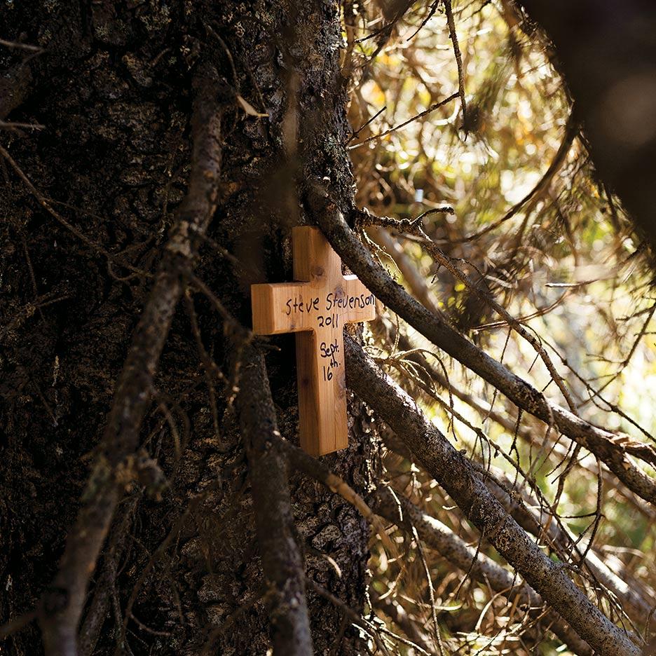 Steve wooden cross