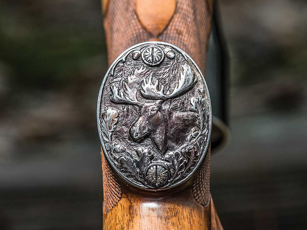 moose engraving no 2 rifle grip cap