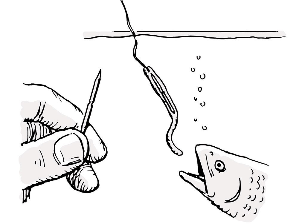 fishing diy hook survival