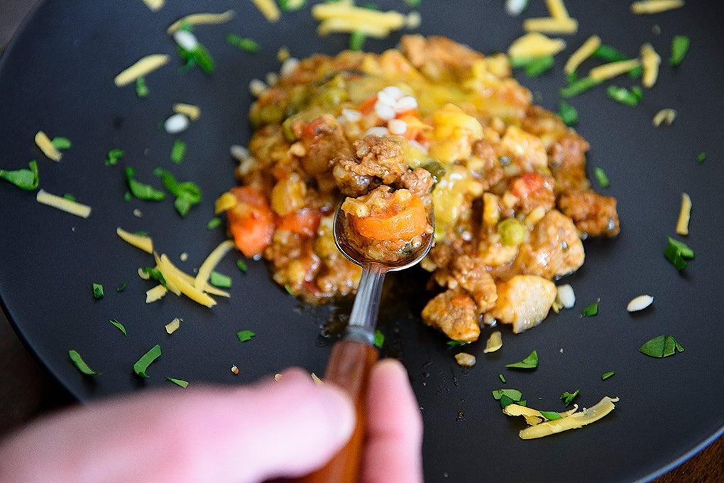 ground venison goulash