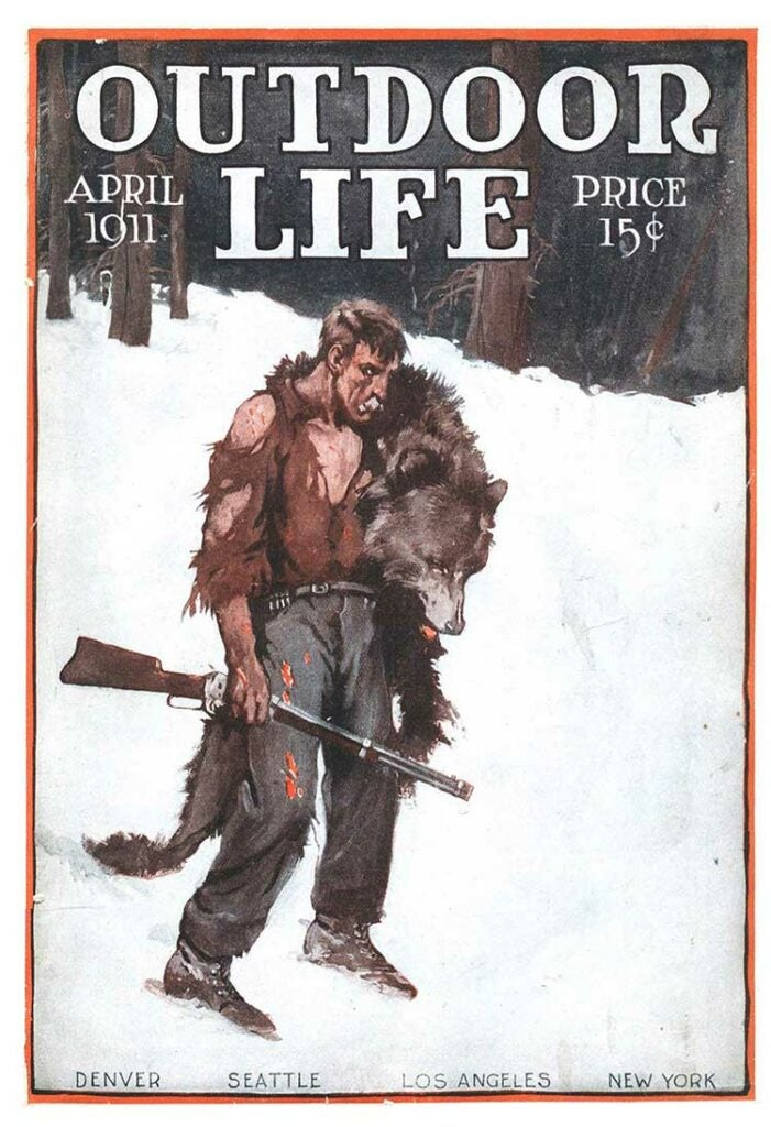 Cover of the April 1911 issue of Outdoor Life