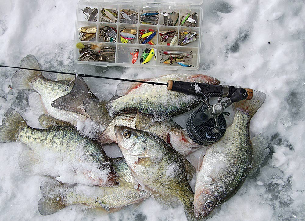 Early ice panfishing