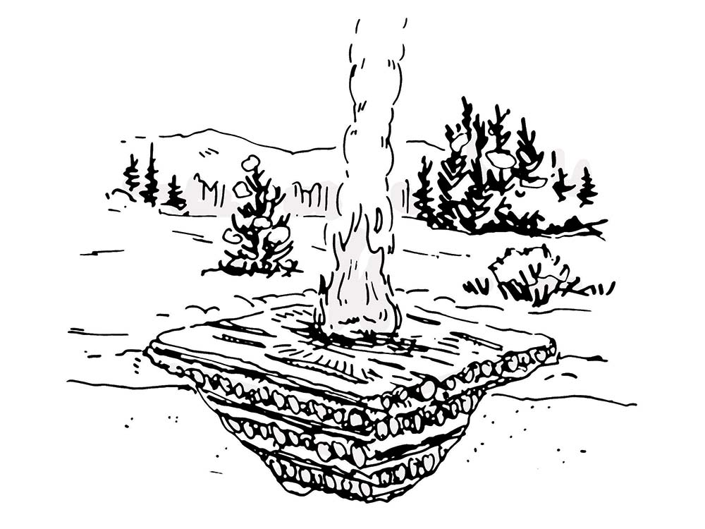 survival skills how to fire snow