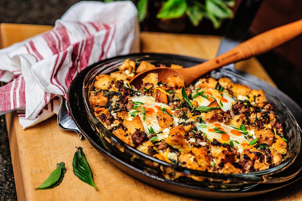 A Recipe for Wild Turkey Italian Sausage Egg Bake
