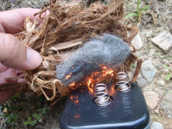 Survival Skills: How to Start a Fire With Steel Wool