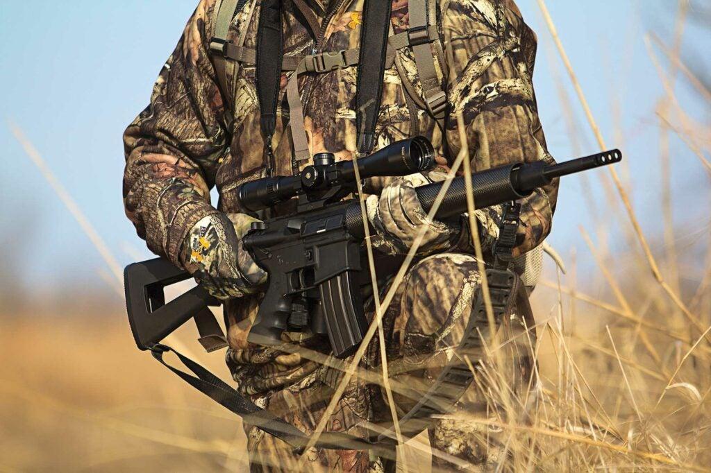 deer hunter with AR
