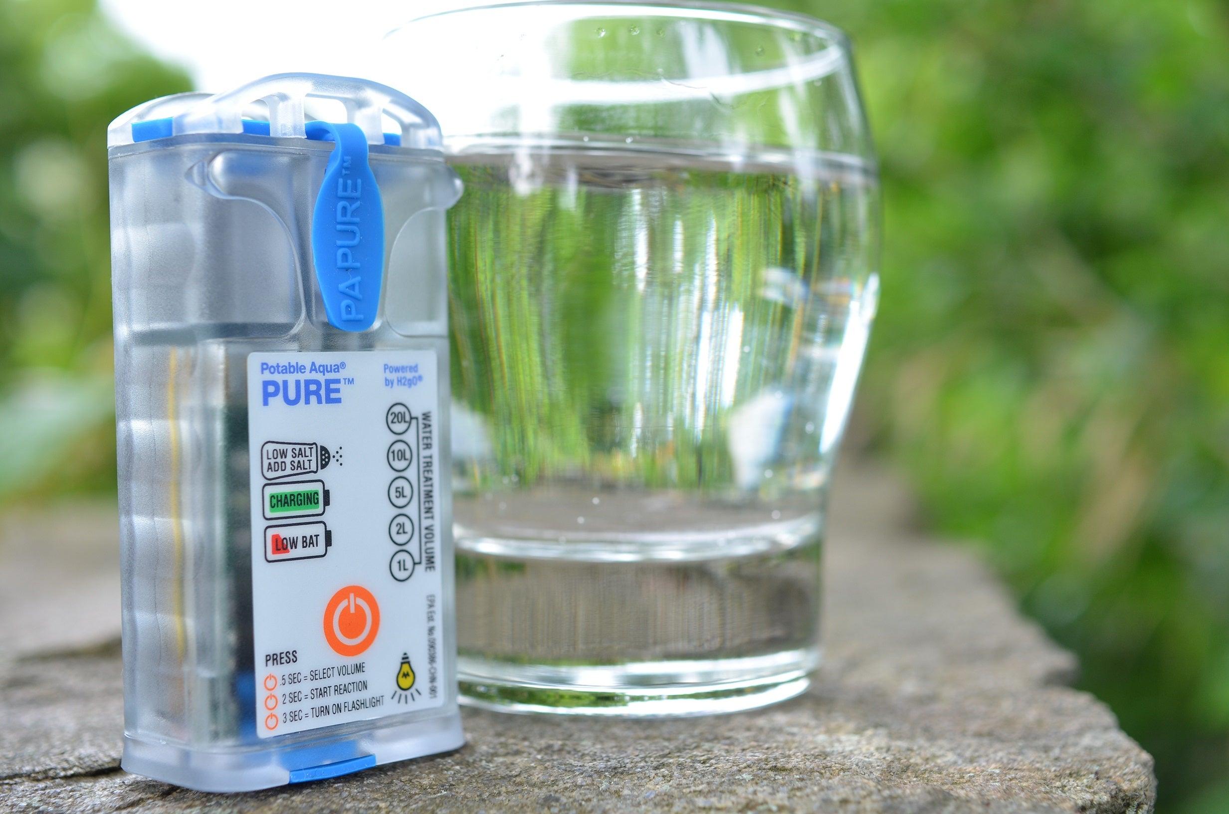 Survival Gear:  Potable Aqua Pure Electrolytic Water Purifier
