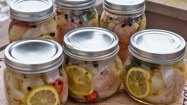 pickled pike in a jar