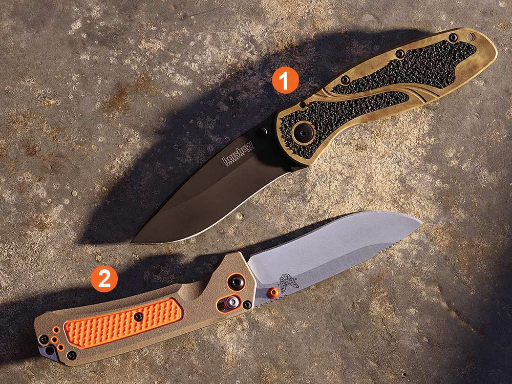 benchmade and kershaw knife