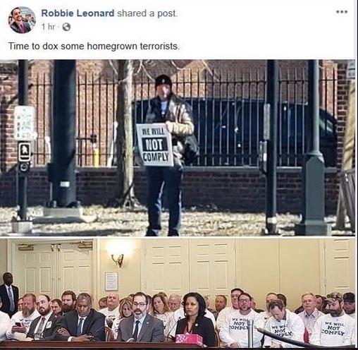 robbie leonard facebook post
