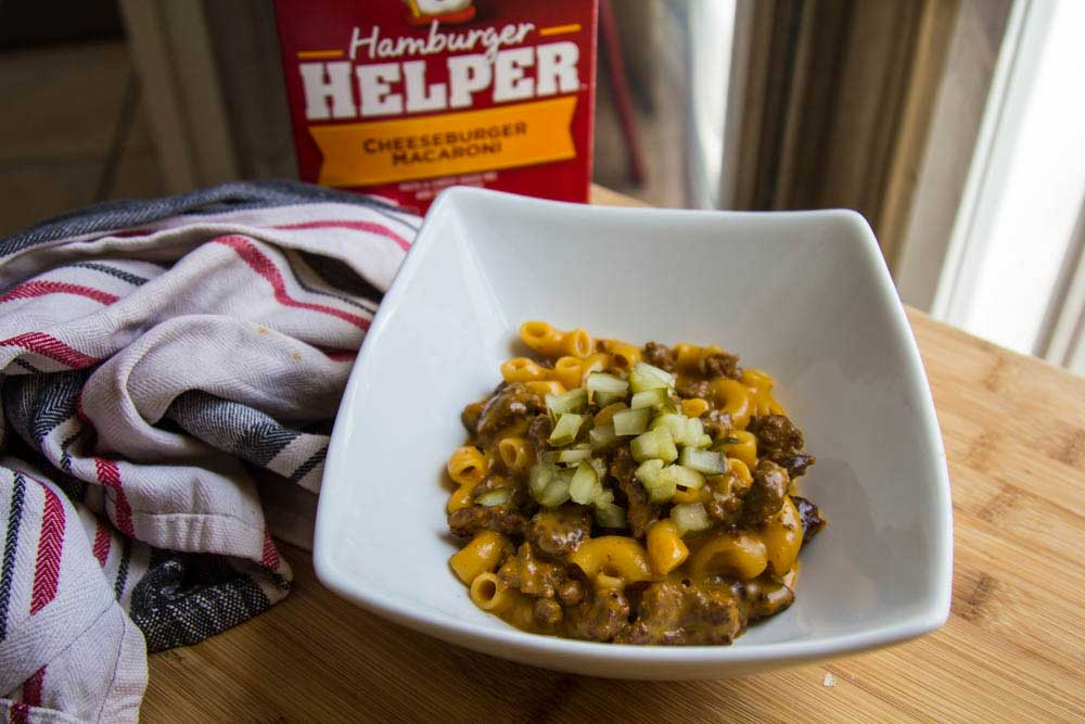 hamburger helper made with wild game meat