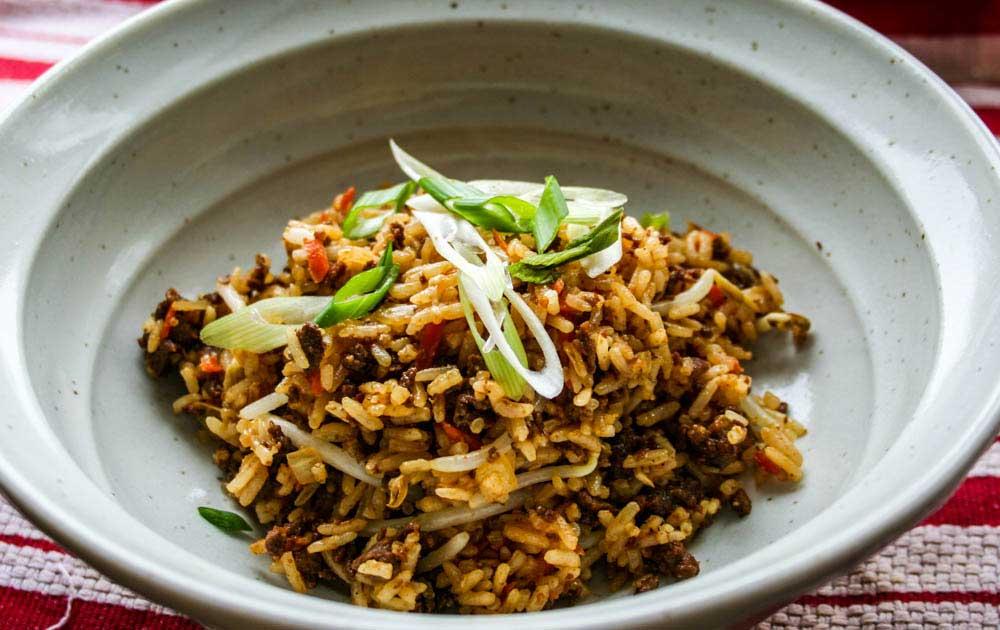 wild game meat wild rice