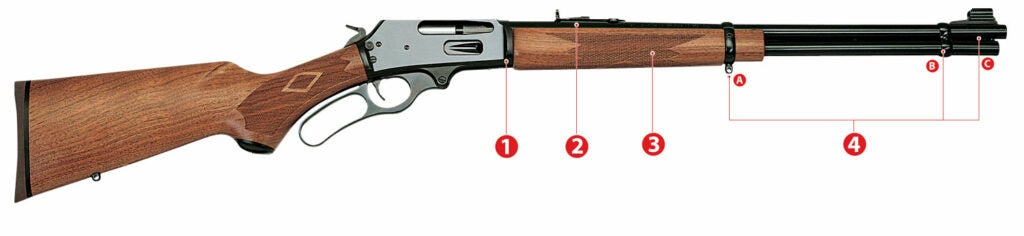 diagram of mods for a lever-action rifle