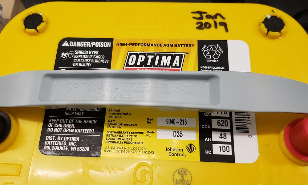 yellow optima battery