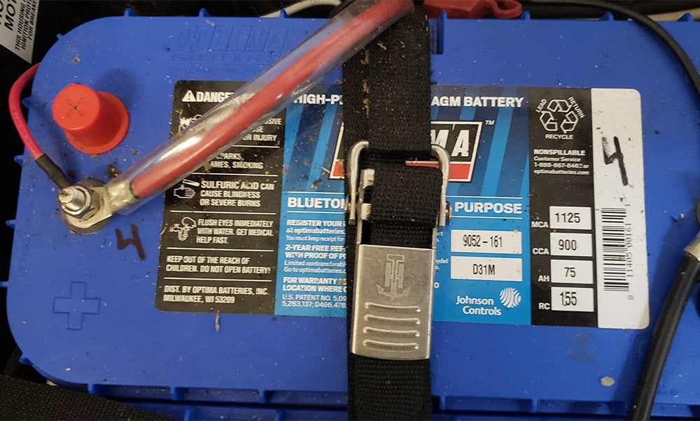 blue boat battery