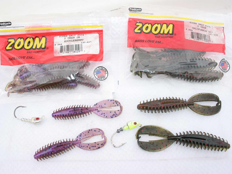 Zoom Z-Craw bass fishing bait