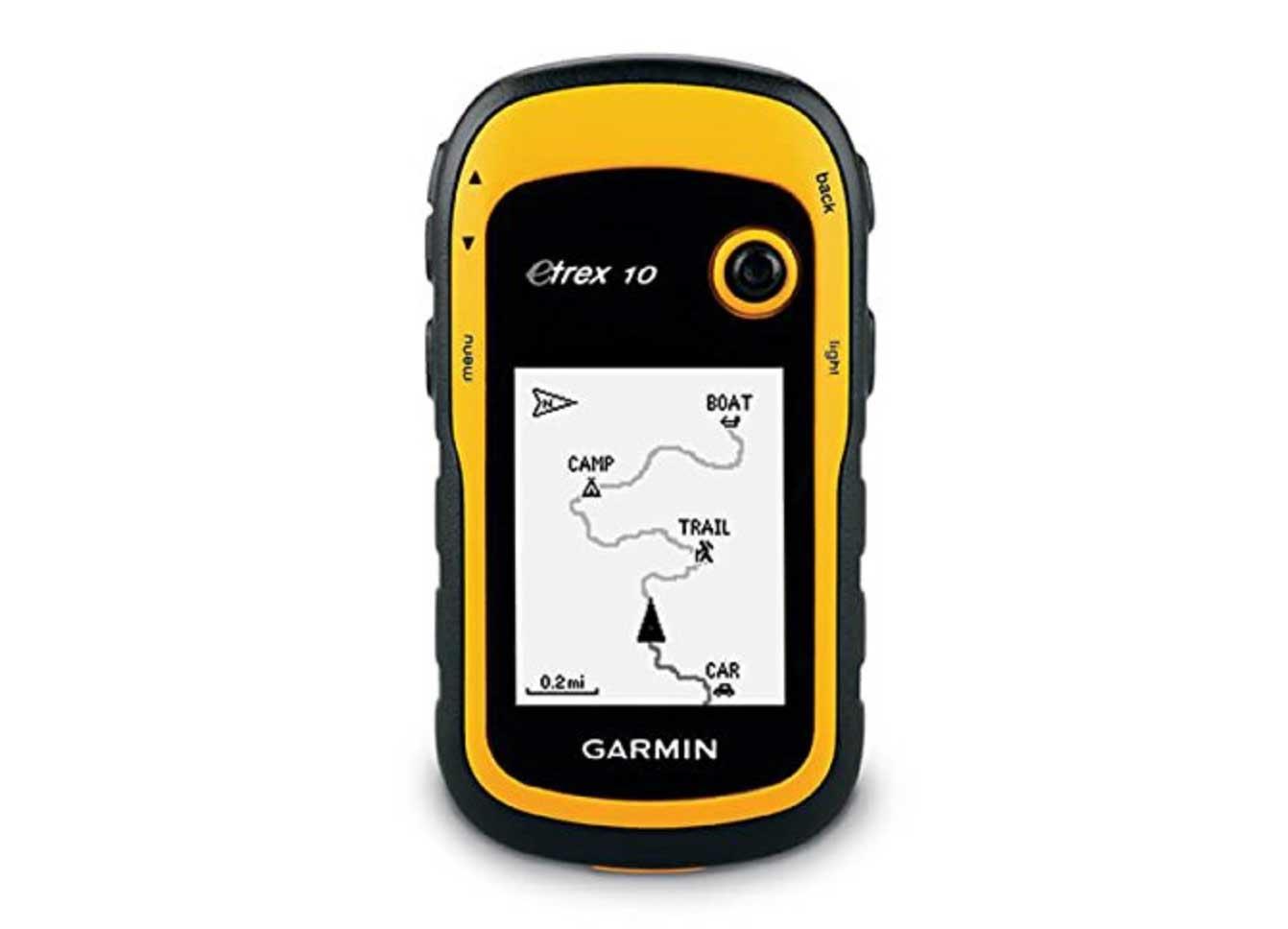 yellow garmin gps navigator