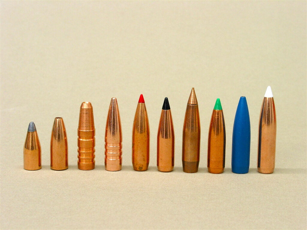 bullets lined up on tan background