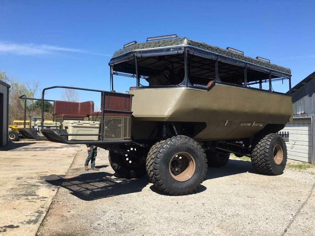 a full sized critter gitter hunting vehicle