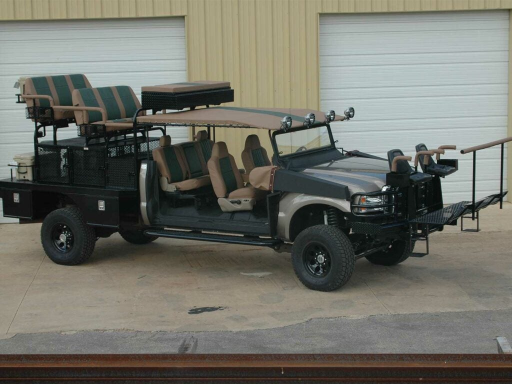 a custom hunting truck built by south texas outfitters