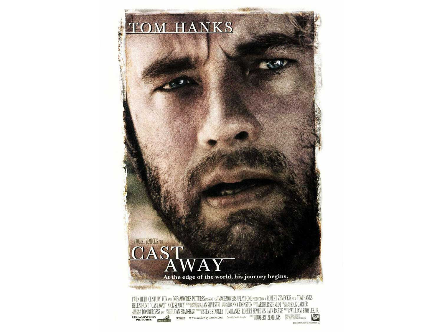 the movie cover of castaway