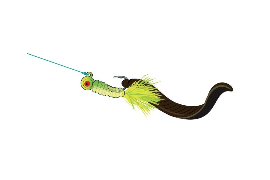 jig and bait fishing rig