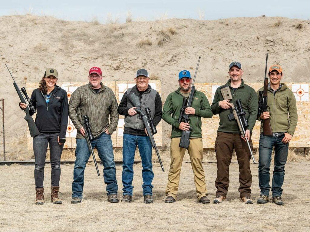 lineup of rifle and shotgun testers